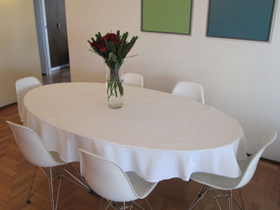 white polyester Jacquard tablecloth