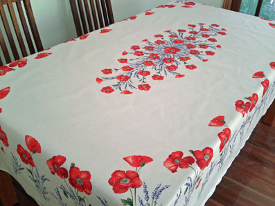 poppies tablecloth