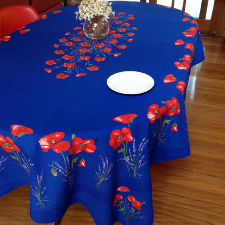 poppies design french tablecloth