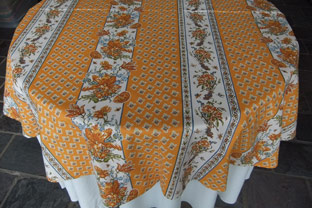 60 in round acrylic coated tablecloth