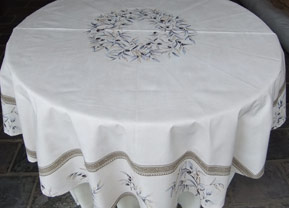 60 in round treated tablecloth