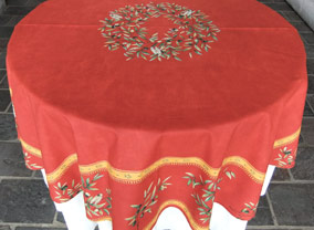 60in round plastic coated tablecloth