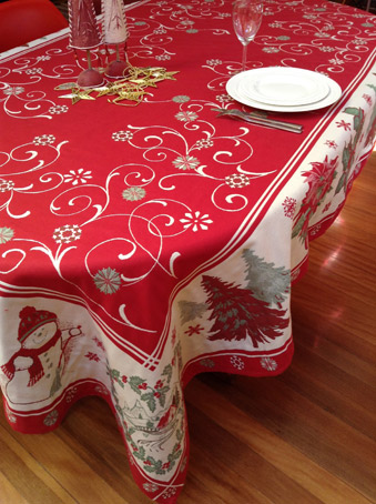 10 seater christmas tablecloth