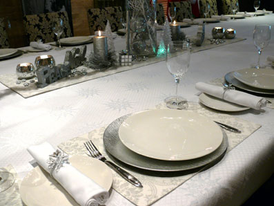 white formal tablecloth
