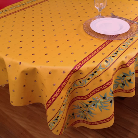 French provencal tablecloth with Teflon treatment