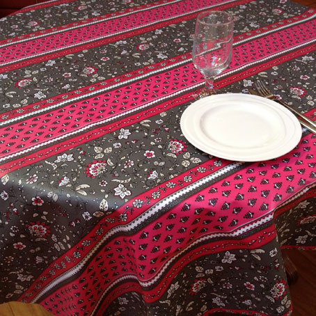 pink oilcloth from provence
