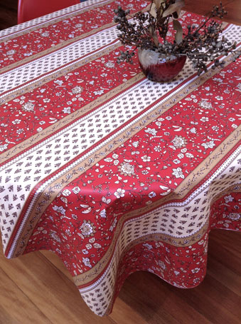 plastic coated french tablecloth