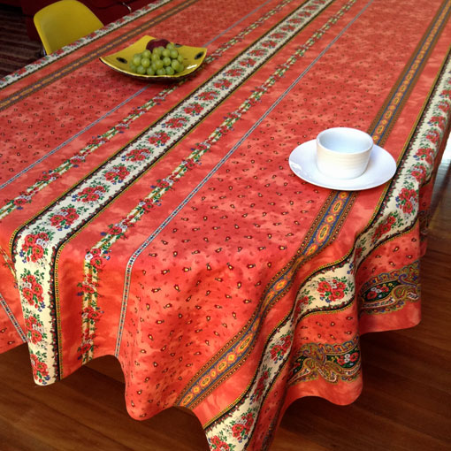 large oilcloth with provincial design