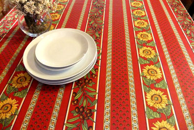 provencal tablecloth with sunflower design