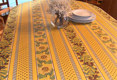 provencal tablecloth with sunflowers