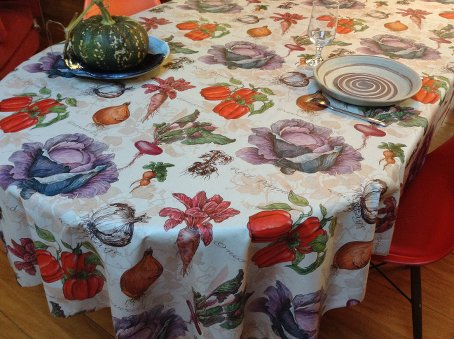 cabbage onions carrots vegetables designs oilcloth