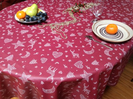 winter and holidays coated french tablecloth