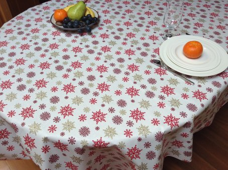 winter and holiday tablecloth with stars  designs